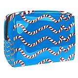 Bolsa de maquillaje portátil con cremallera bolsa de aseo de viaje para las mujeres práctico almacenamiento cosmético bolsa de color cuerda