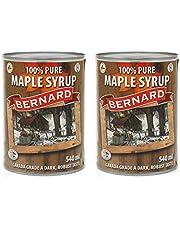 Jarabe de arce Grado A (Dark, Robust taste) - Pack 2 x 540ml - Miel de arce - Sirope de Arce - Original maple syrup