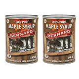 Pur Sirop d'érable en canette - Grade A (Dark, robust taste) - Pack 2 x 540 ml (714 g) - Original maple syrup - Pur Sirop d'érable