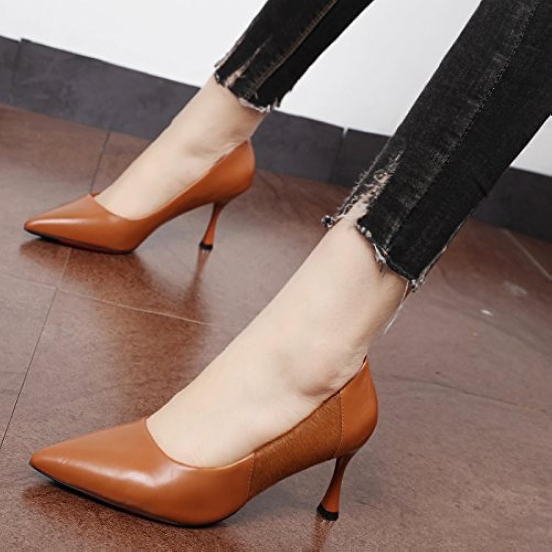 Xue Qiqi Pumps Die rote Spitze fein mit einzelnen Schuhe Horse Hair nhten Leder, high-heeled Frauen Schuhe