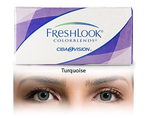 FreshLook ColorBlends - 2x2er Box (Dioptrien: +0,75 / Farbe: Türkis / Basiskurve: 8,60 / Durchmesser: 14,50)