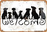 Cartel de metal con texto en inglés «Welcome to the Dog House» de 20 x 30 cm, aspecto vintage, decoración para el hogar, cocina, baño, granja, jardín, garaje, citas inspiradoras, decoración de pared