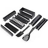 SUNERLORY - Kit de creación de sushi para hacer sushi, kit completo de 5 moldes utensilios