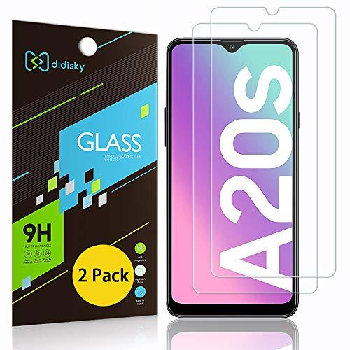 Didisky Pellicola Protettiva in Vetro Temperato per Samsung Galaxy A20s, [2 Pezzi] Protezione Schermo [Tocco Morbido ] [Facile da Pulire] [Facile da installare] Trasparente