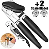 BENSEAO Can Opener Manual Can Opener Smooth Edge Can Openers for Seniors and Arthritis Heavy Duty...