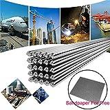 Bassa Temperatura Bacchette di Saldatura in Alluminio, Asta di Saldatura Durevole Al per Riparazione Non c'è Bisogno di Polvere di Saldatura - 10 PC 2.0MM 50CM