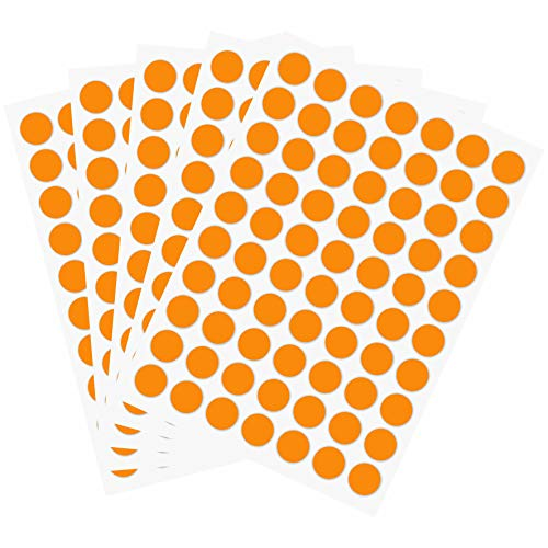 PARLAIM 1050 PCS 3/4 Inch Round Color-Code Dot Stickers ,Color Coded Stickers Label Circle Stickers for Classroom, Office(Fluorescent Orange)
