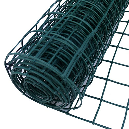 Plastic Garden Fencing 0.5m x 25m Green 50mm Holes Clematis Netting Mesh - Ideal for Plant, Pet, Vegetable Protection and Climbing Plant Support Net