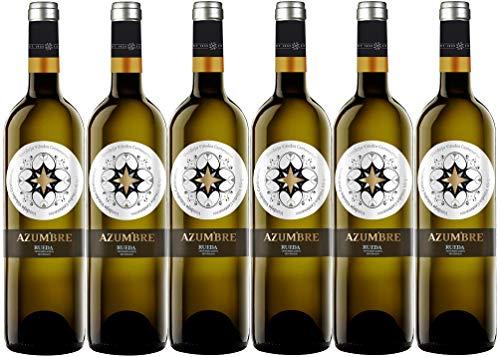 Vino Blanco Azumbre Verdejo D.O Rueda - 6 botellas de 750 ml - Total: 4500 mls