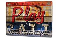 カレンダー Perpetual Calendar Retro M.A. Allen play ball Tin Metal Magnetic