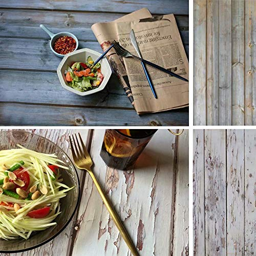 2-in-1-Holz-Foto-Hintergrund für Studio Requisiten Peeling Holzwand Hintergrund Doppelseitige nahtlose Fotografie Kulissen Papier Board 16