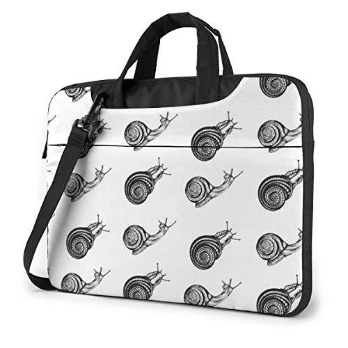 Neoprene Laptop Sleeve Case, Black Snail Print Portable Laptop Bag Business Laptop Shoulder Messenger Bag Protective Bag 13 Inch