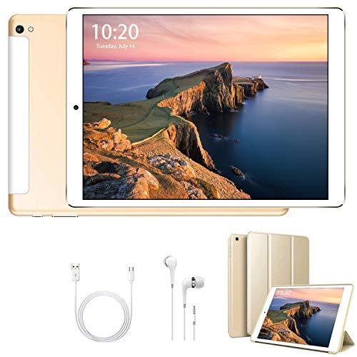 10.1 Inch Tablet Android 9.0, 32GB ROM/128GB 3GB RAM Call Phone Tablet PC, 8500mAh Battery Quad Cord Phablet, Dual Camera Dual SIM Card Slots Unlocked, Bluetooth, GPS, WIFI,Netflix, Disney+