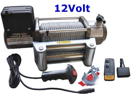 Prime Tech Elektrische Marken-Seilwinde 12Volt 13000 lb / 5900 kg/Modell WF13 mit weiterenwickeltem Getriebe / 12V