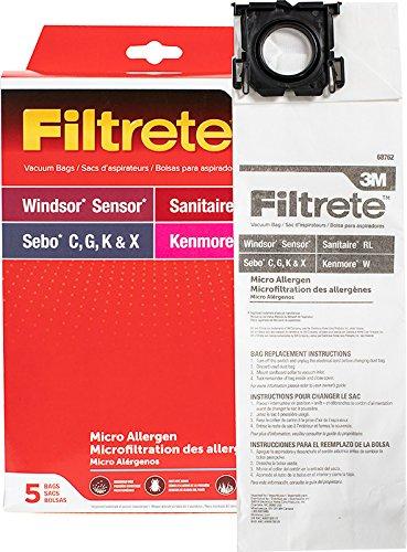 3M Filtrete 3M Windsor Sensor Micro Allergen Pkg Vacuum Bag