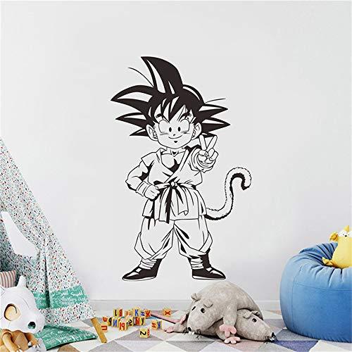 Dragon Ball Wandtattoo Dragon Ball Kinder Wandtattoos Anime Poster Goku Vinyl Wandaufkleber Kinderzimmer Dekoration Kindergarten Schlafzimmer Dekor Wandbild Poster