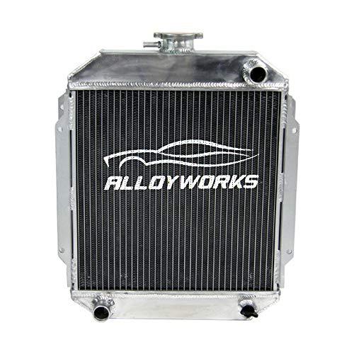 ALLOYWORKS 3 Row Aluminum Radiator Compatible with 1970-1976 Nissan Datsun 1200 B110 A12 A12T
