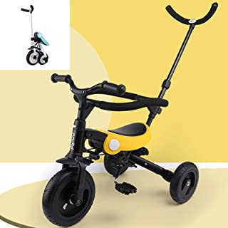 AP.DISHU Strollers Pushchairs, Lightweight Folding Children's Tricycle Baby Bicycle Suitable for 1-6 Years Old Baby Aluminum Alloy,Yellow