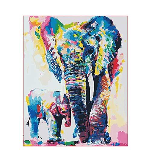 yyyyk Puzzle 1000 Piezas Elefante Garabato 75x50cm DIY Rompecabezas De Madera Estilo De Decoración del Hogar Paisaje