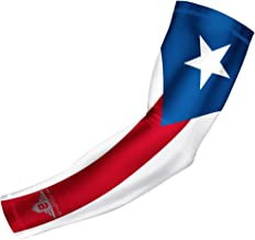 Bucwild Sports USA Mexico Puerto Rico Flag Compression Arm Sleeve - Youth & Adult Sizes - Baseball Basketball Football Boys Girls Kids Men & Women