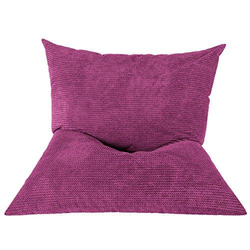 Lounge Pug®, Riesen Sitzsack XXL, Sitzkissen, Pom-Pom Pink
