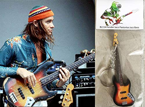 Llavero de bajo de guitarra Jaco Pastorius Jazz Bass
