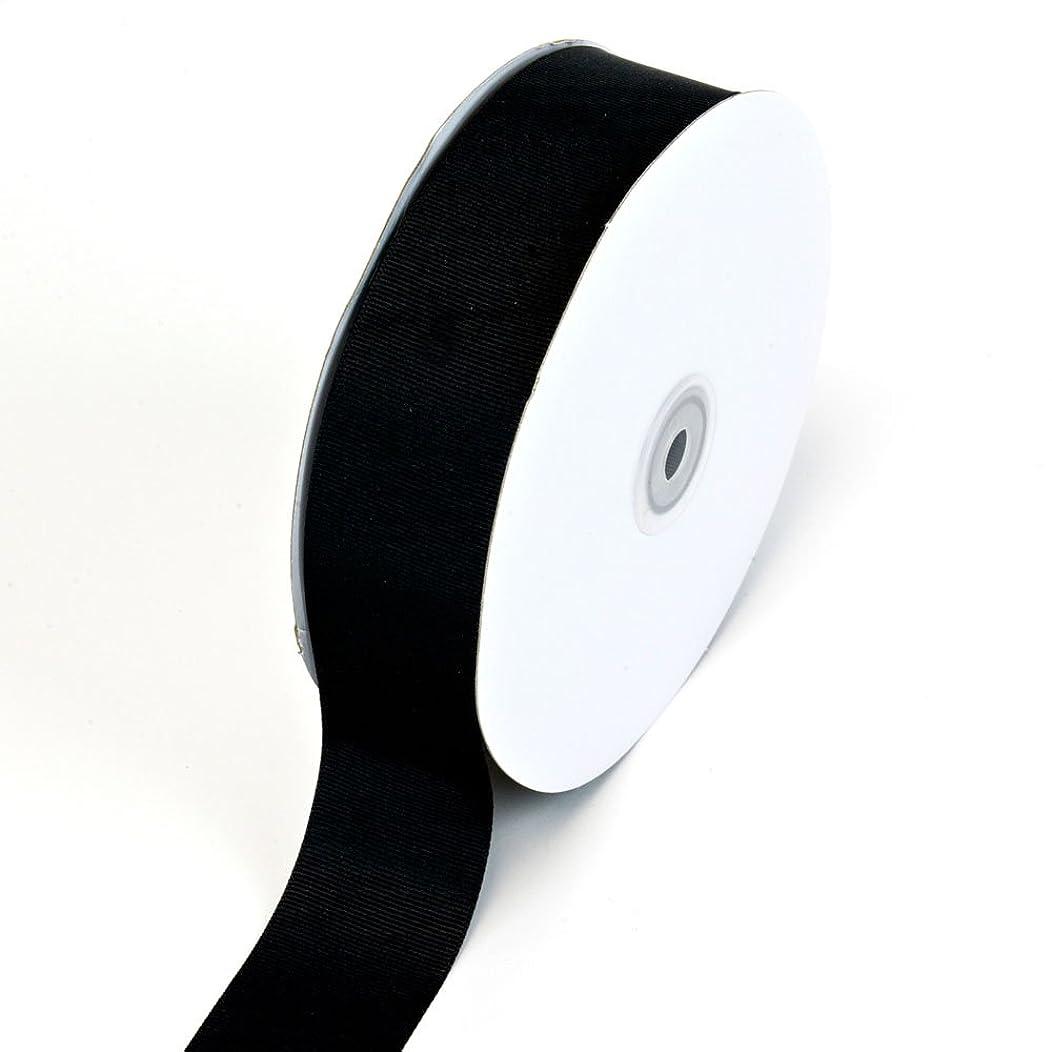 Creative Ideas Solid Grosgrain Ribbon, 1-1/2-Inch by 50-Yard, Black