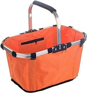 Folding The Basket, Portable Shopping Basket Outdoor Barbecue Basket Picnic Basket Party Fruit Basket 43 * 27 * 23CM (Colo...