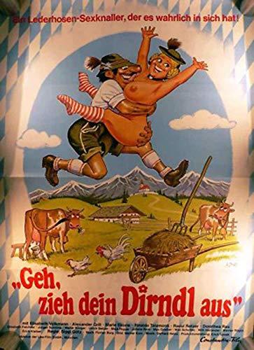 Geh, zieh dein Dirndl aus - Elisabeth Volkmann - Filmposter 84x60cm gefaltet