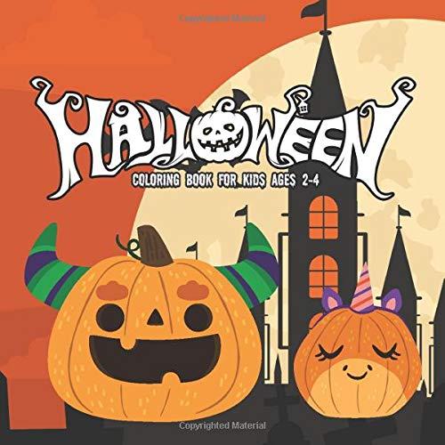 Halloween Coloring Books for kids ages 2-4: happy halloween activity book for Children pumpkins desi