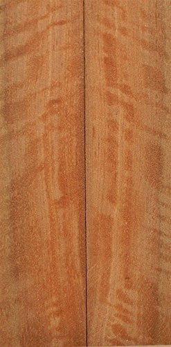 """Satinwood Pyinma (2 pc) Knife Scales 1/4""""x1 1/2""""x6"""" 002"""
