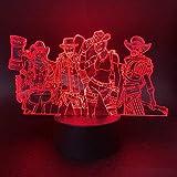Hero Equipment 3D Pattern Night Light Creative Sleep Light Slide 7 Changement De Couleur Lumières...