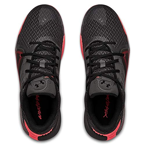 Under Armour - UA Spawn 2 – Zapatillas de baloncesto para hombre – Color negro/rojo (Numeric_44_Point_5)
