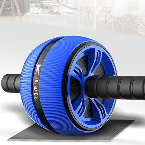 L-JIAN Bauchtrainer AB Roller, Ab Bauch-Übung Roller Mit Knie-Auflage-Matte, Body Fitness Krafttraining Maschine, AB-Rad-Gym-Tool, 180x230x150mm,Blau
