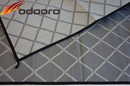Zeltteppich ´´´odooro WAVETEX Diamond 2,7m x 3m schwarz-grau *** 400 g/m² Outdoor Teppich Vorzelt Teppich Garten Spieldecke