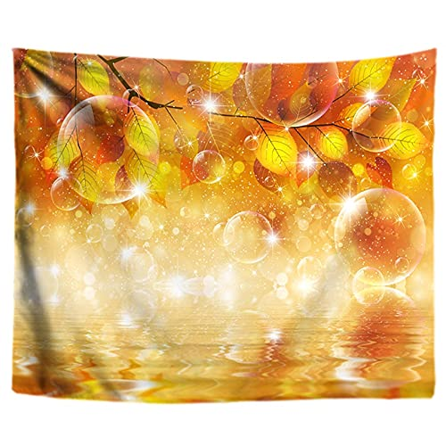 KHKJ Tapiz de Paisaje de Arroyo de Bosque de otoño, Tapiz de Mandala 3D para Colgar en la Pared, Tapiz de Pared Hippie, Tapiz de decoración de Pared, tapices A3 200x150cm