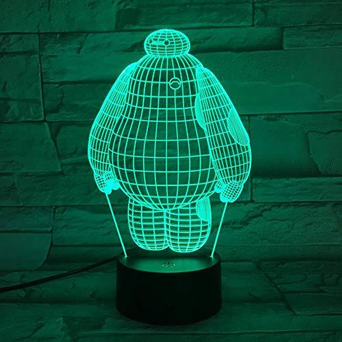 Preisvergleich Produktbild ZSSYD 16 Farben 3D Stimmungslicht Nachtlichtkühles Baby Geführtes Nachtlicht Kindernachtlicht Kinderbett Berührungssensor Verfärbung Geführtes Kindernachtlicht Led Nachtlampe Baby Nachtleuchte Touch