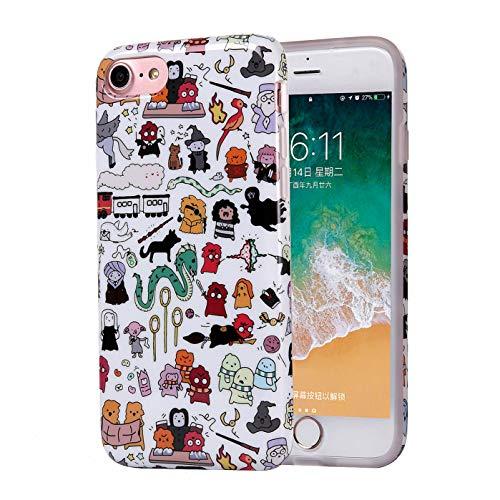 ZQ-Link Funda iPhone 6S 6 Casas de Estuche de Silicona,TPU Diseño Impreso +...