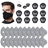 20pcs Five-layer Activated Carbon Filters with 10 Exhaust Valves, DIY Replacement Non-Woven Filter Accessories Set Unisex Anti Pollen Allergens Dust Fit for Most Cycling Masks