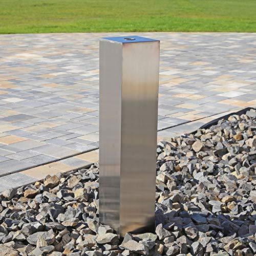CLGarden Edelstahl Element Säule 70cm eckig Edelstahlsäule für DIY Garten Springbrunnen