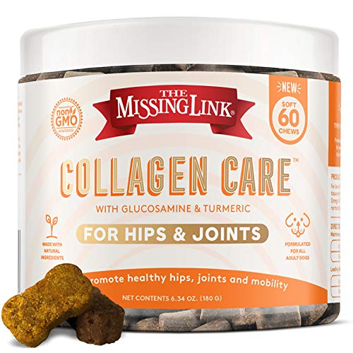 Collagen Care Dog Soft Chews, Nutrional Treat for Canine Hip & Joint Health, 60 Count