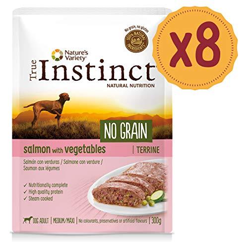 True Instinct No Grain Salmone - Terrina - Medium/Maxi - Adult 300G X 8-2400 Gr