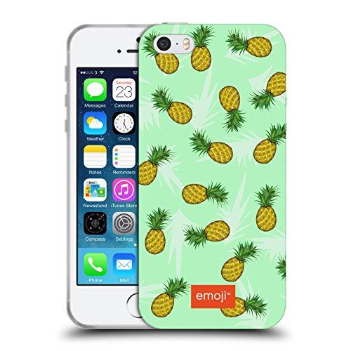 Head Case Designs Oficial Emoji Piñas Frutas Carcasa de Gel de Silicona Compatible con Apple iPhone 5 / iPhone 5s / iPhone SE 2016