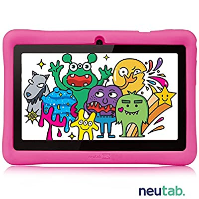 NeuTab 7 inch Kids Edition Quad Core Tablet, 7'' HD IPS Wide Viewing Angle Screen 1GB RAM Android 5.1 Lolipop System w/ iWawa Software Bundle Kids Model Pre-installed, FCC Certified