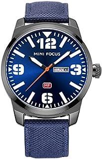 Mini Focus Mens Quartz Watch, Analog Display and Leather Strap - MF0032G.02