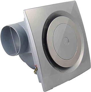 VentiladorExtractor silenciosa Ventilador De Escape De Techo De 25 Vatios Tipo De Conducto Circular Ventilación Vatios Plata Ruido Doméstico: 45 DB, Ventilación: 2.3 M/Min,