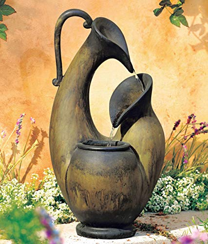 John Timberland Weathered Jug 24' High Tabletop Fountain