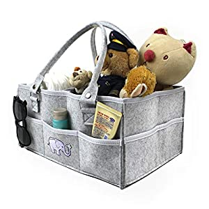 Baby Diaper Caddy Organizer,Portable Holder Bag for Changing Table,Baby Shower Gift Bag Nursery Essential,Foldable Portable Car Travel Organizer for Changing Nappy