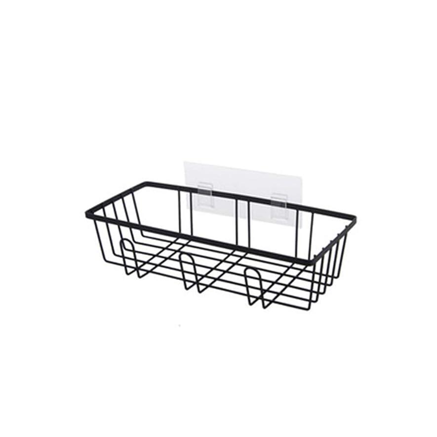 直径十二真っ逆さまIUYWL ドレンラック鍛造鉄家庭用キッチンアクセサリー無孔壁掛けシンク収納ラック-黒、白 キッチンドレンラック (Color : Black)
