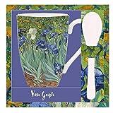 VAOFO Van Gogh 523444 Tazza con Cucchiaio, Modello Iris